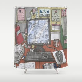 Reality At Work Shower Curtain