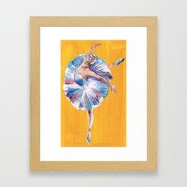 Vibrant Ballet Dancer Framed Art Print