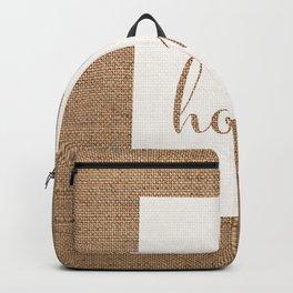 Utah is Home - White on Burlap Backpack