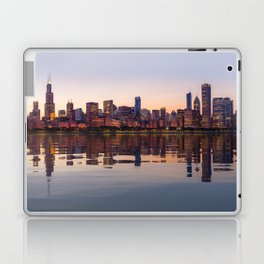 Panorama of the City skyline of Chicago Laptop & iPad Skin