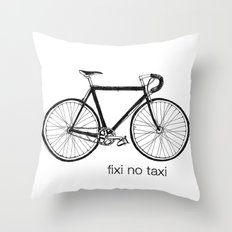 fixi no taxi Throw Pillow