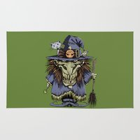 witch Area & Throw Rugs featuring Witch by Kape