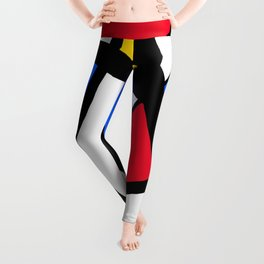 Red, Yellow, Blue Primary Abstract Leggings