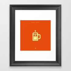 Coffee: The French Press Framed Art Print