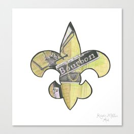 Fleur De Lis Bourbon Street Canvas Print