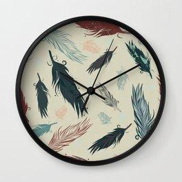 feather art Wall Clock