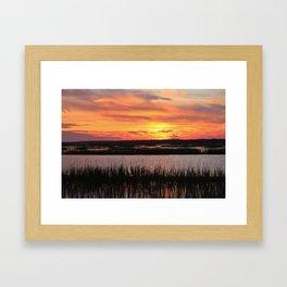 Sky Over The Marsh Framed Art Print