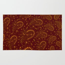 Paisley (Red and Gold) Rug