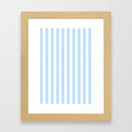 Classic Seersucker Stripes in Blue + White Framed Art Print