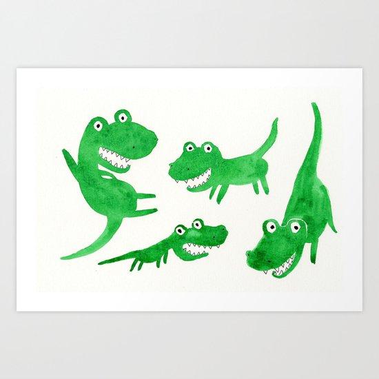Alligator Art Print