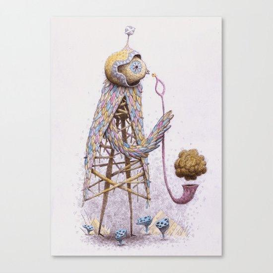 Pipe Bird Canvas Print