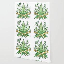 Marijuana Leaf Weed Joint Smoker Wallpaper
