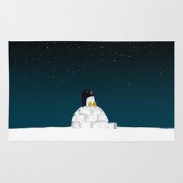 Star gazing - Penguin's dream of flying Rug