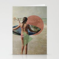 surfer Stationery Cards featuring Surfer  by Mary Kilbreath