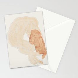 The hairwash - after Rodin Stationery Cards