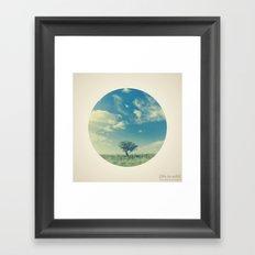 Circular Tree Framed Art Print