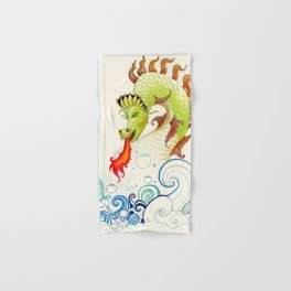 A happy dragon Hand & Bath Towel