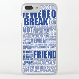 Friends (blue) Clear iPhone Case