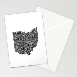 Typographic Ohio Stationery Cards