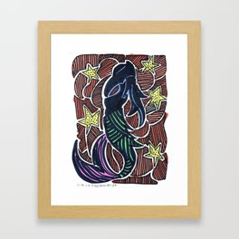 Mermaid Star Framed Art Print