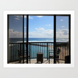 NORTH SHORE ROOM WITH A VIEW Art Print