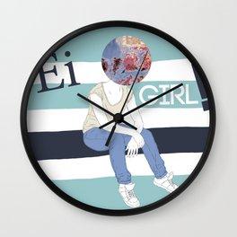 EI GIRL! Wall Clock