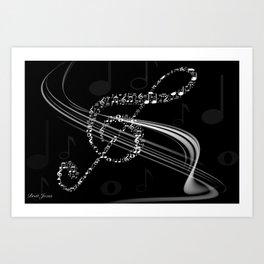 DT MUSIC 8 Art Print