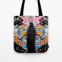 mother Tote Bags featuring Mother? by ItzelXoco