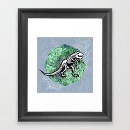 T. Rex Fossil Framed Art Print