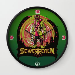 Sewer Realm (Red) Wall Clock