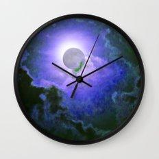 Summer Full Moon Wall Clock