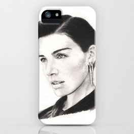 jessica paré...  mrs. draper comes to town. iPhone Case