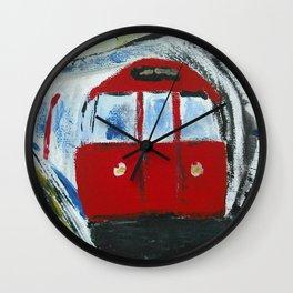 London Underground Acrylic On Canvas Board Fine Art Wall Clock