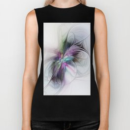 New Life, Abstract Fractals Art Biker Tank