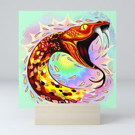 Snake Attack Psychedelic Art Mini Art Print
