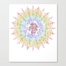 Rainbow Mandala Urban Decay Style - Vintage, Aged Pattern Canvas Print