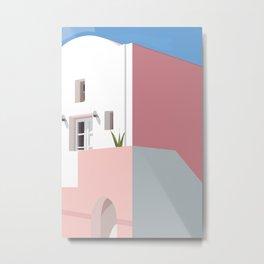 Postcard in pink Metal Print