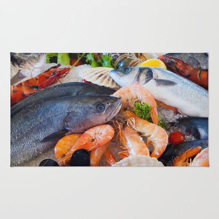 Various Seafood Rug