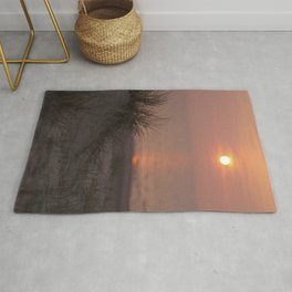Sea view with sunset I Golden hour I Pastel colors I Beach grass I The Netherlands I Photography Rug