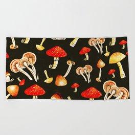 Brigt Mushrooms Beach Towel
