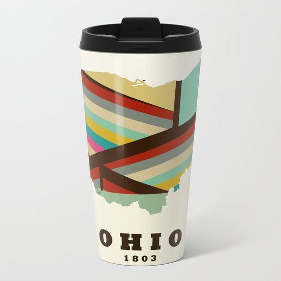 Ohio state map modern Metal Travel Mug