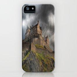 Rain Clouds Over Edinburgh Castle iPhone Case