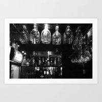 bar Art Prints featuring Bar by Marcela Ponce