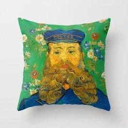 PORTRAIT OF JOSEPH ROULIN - VINCENT VAN GOGH Throw Pillow