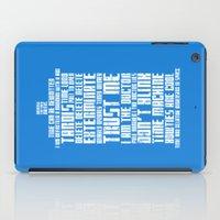 tardis iPad Cases featuring Tardis by Tombst0ne
