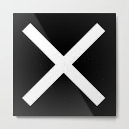 (CROSS) (BLACK & WHITE) Metal Print