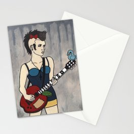 Punk White Stationery Cards