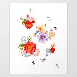 SCATTERED FLORALS Art Print