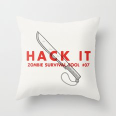 Hack it - Zombie Survival Tools Throw Pillow