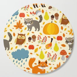 Woodland Animals Cutting Board